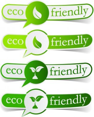 Eco friendly green tags.