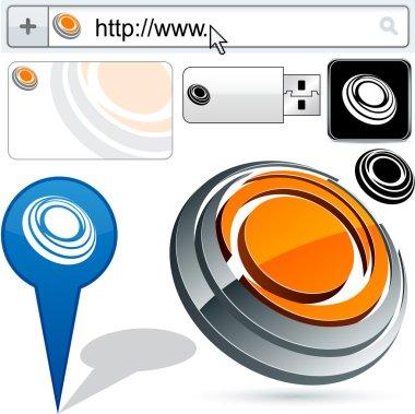 Business 3D vision logo design.