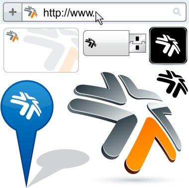 Business 3D tick logo design.