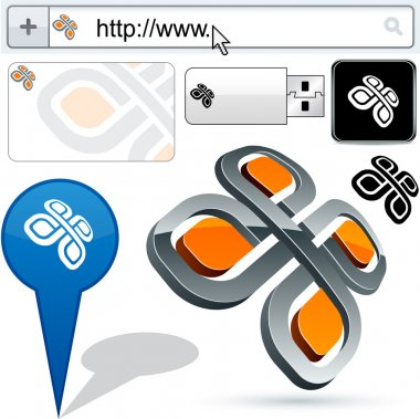 Business 3D pattern logo design.