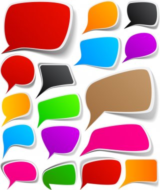 Set of color speech designs.