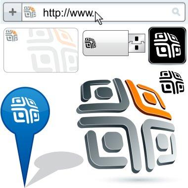 Business maze abstract logo design.