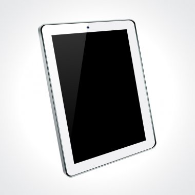 White tablet concept.