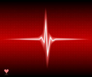Red heart bear. Vector illustration. stock vector