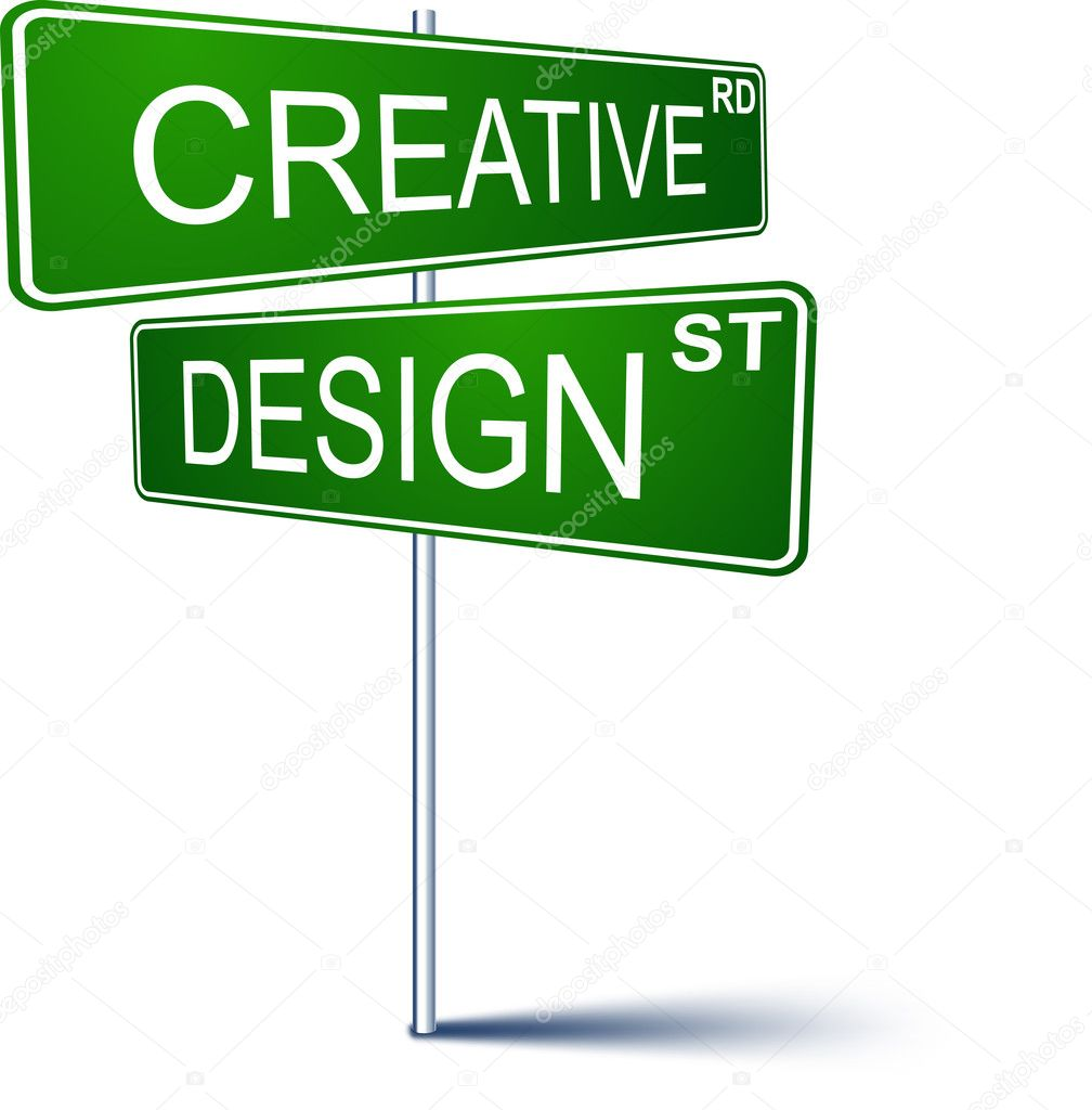 creative-design direction sign. ⬇ vector image by © maxborovkov   vector  stock 6647993  depositphotos