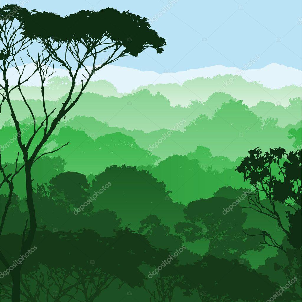 Landscape Illustration Vector Free: Stock Vector © Binkski #6373189