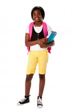 Student ready for school