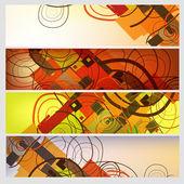 abstraktní nápisy sada