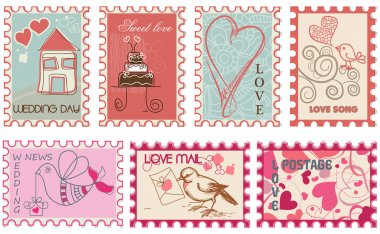 Love and wedding stamps collection