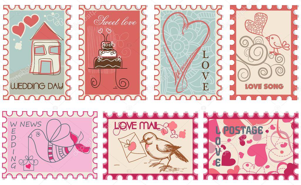 подключению зачем марки на открытках обращают
