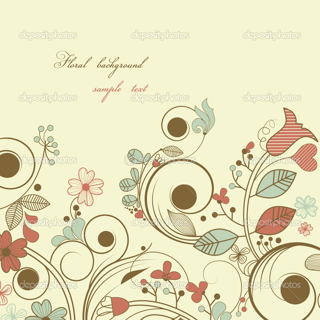 Vintage Floral Background Stock Vector C Danussa 5643833