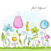 Vektorové letní květinové pozadí