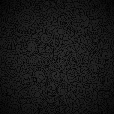 Elegant black seamless pattern clip art vector
