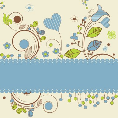 Floral design with space for text