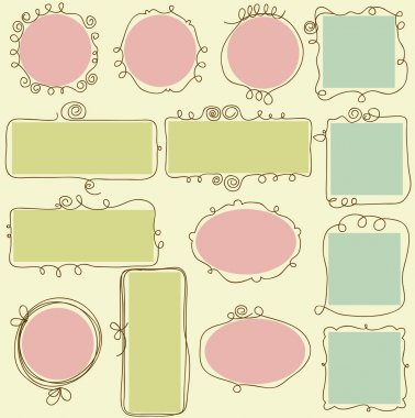 Cute frames stock vector
