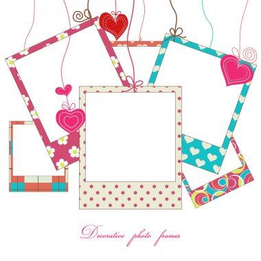 Hanging cute photo frames