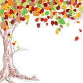 podzimní strom pozadí