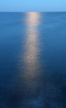 Moonlight over sea