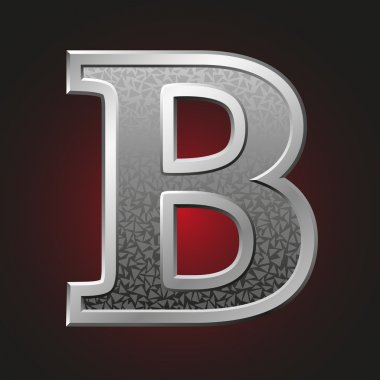 Metal letters B