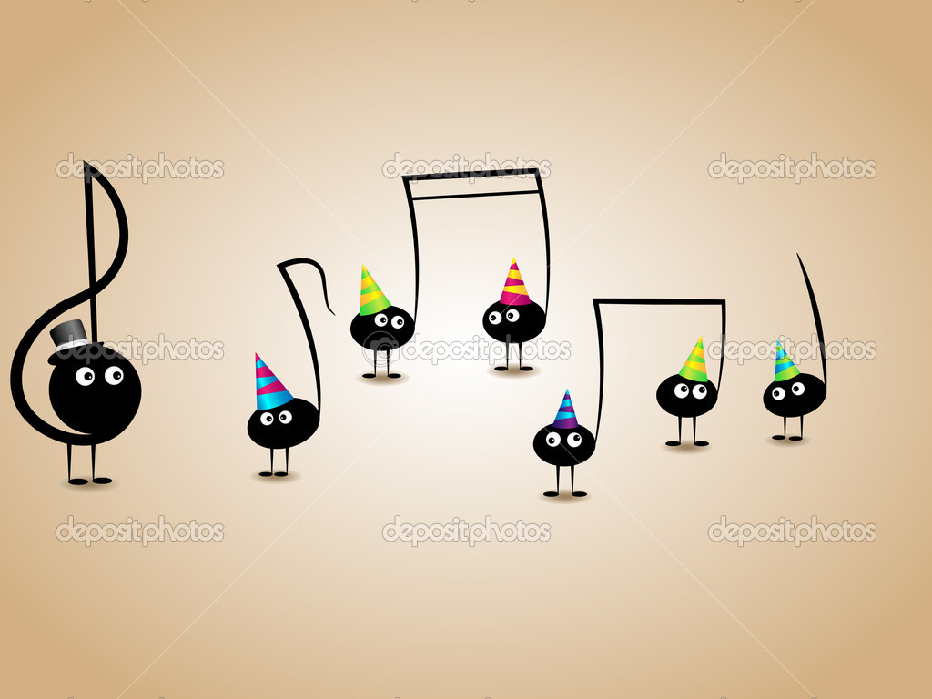 Musical greeting card stock vector 578foot 5810531 musical greeting card stock vector kristyandbryce Gallery