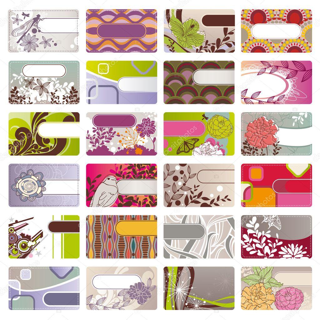 Cute business cards — Stock Vector © SelenaMay #6084357