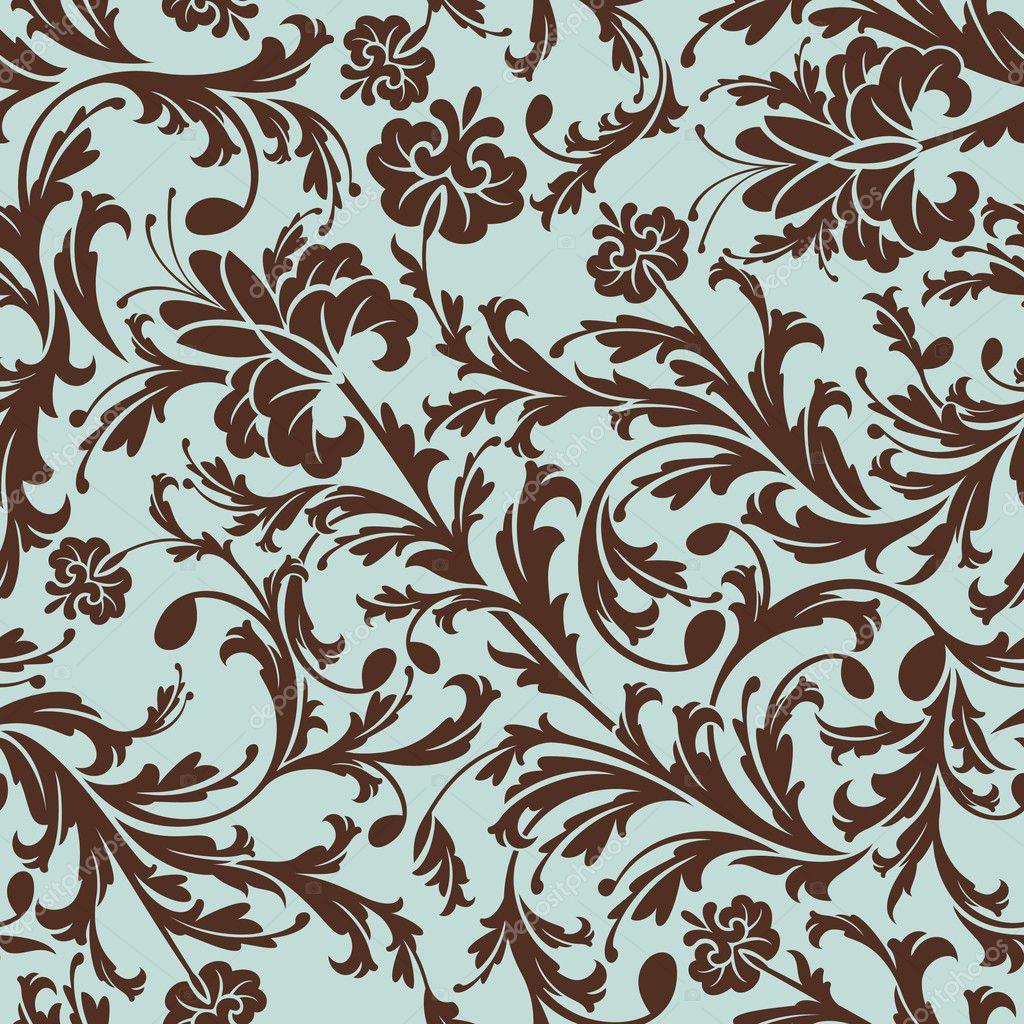 Seamless floral pattern stock vector selenamay 6135911 - Papel de pared retro ...