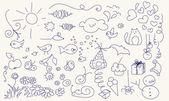 hübsch Doodle set