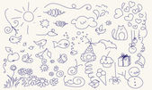 Fotografie hübsch Doodle set