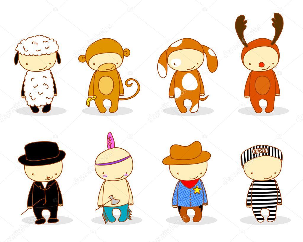 Cute kids in costume