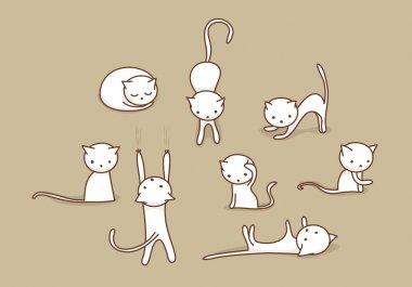 White cat set
