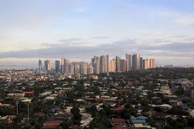 Makati skyline manila city philippines
