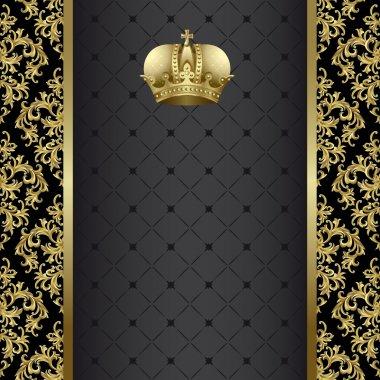 "Картина, постер, плакат, фотообои ""чёрный и золотой фон "", артикул 6309862"