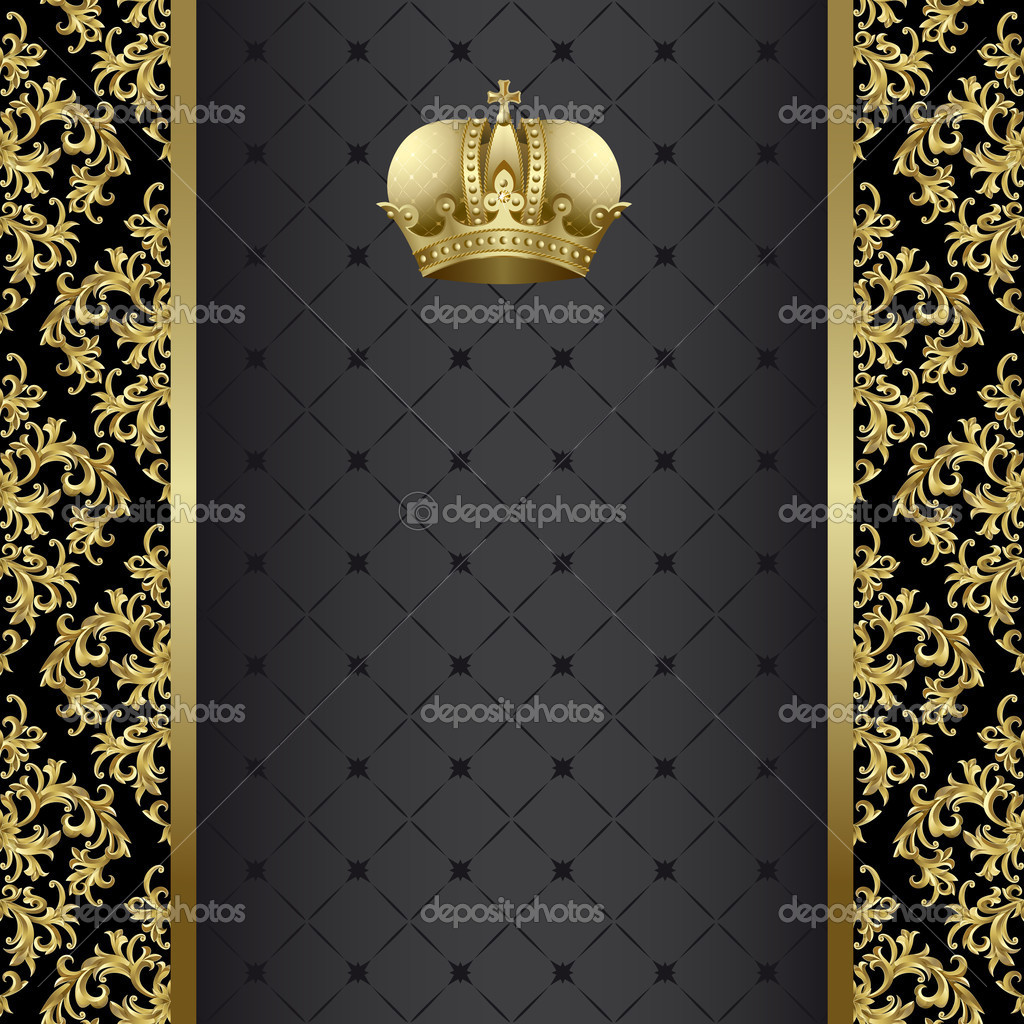 Black and golden background