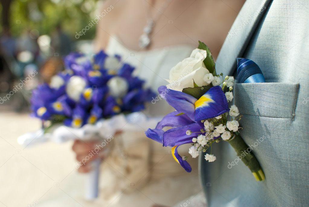 Bouquet Sposa Iris.Bridal Bouquet And Boutonniere Groom Stock Photo C Dudaeva 6231614