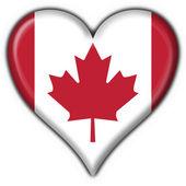 Photo Canada american button heart flag