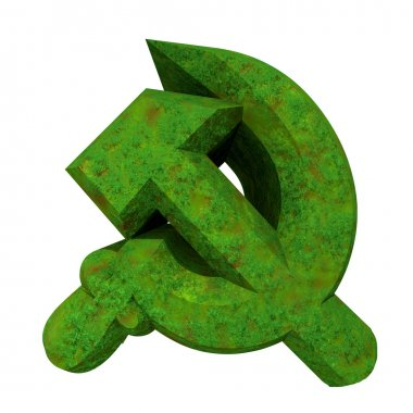 3d made hammer and sickle symbol