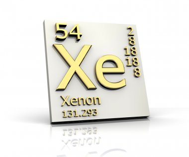 Xenon form Periodic Table of Elements
