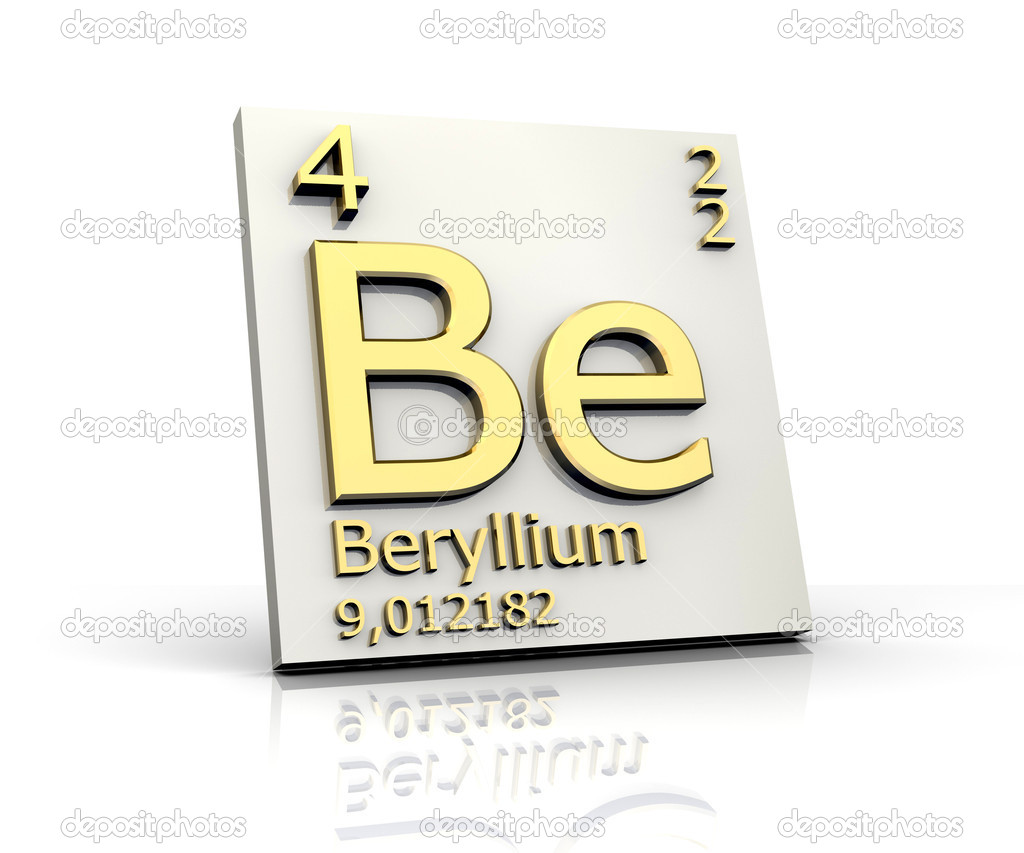 Beryllium from periodic table of elements stock photo fambros beryllium from periodic table of elements 3d made photo by fambros buycottarizona Image collections