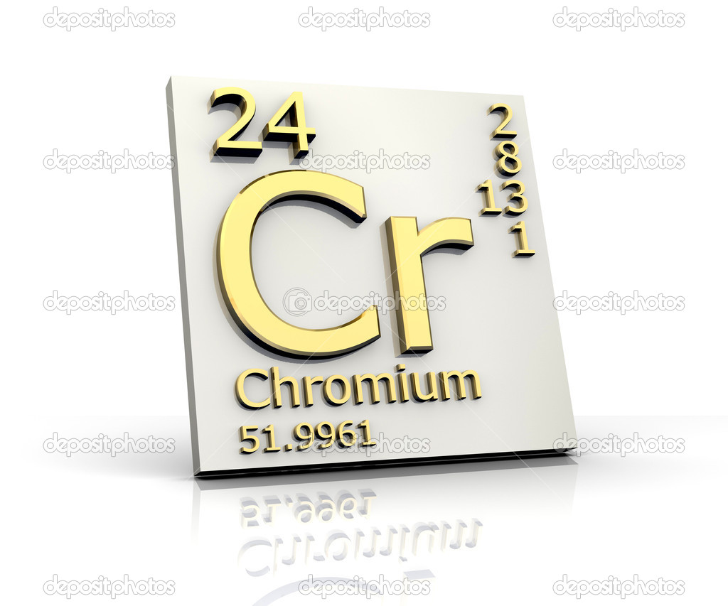 Chromium Form Periodic Table Of Elements Stock Photo Fambros