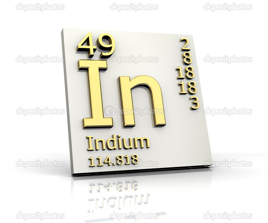 Indium form periodic table of elements stock photo fambros indium form periodic table of elements stock photo 6285146 gamestrikefo Gallery