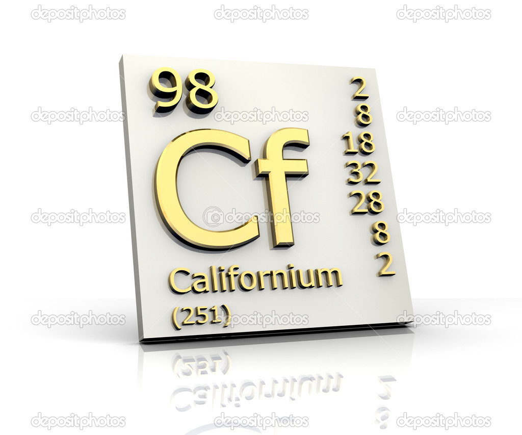 Californium periodic table of elements stock photo fambros californium periodic table of elements 3d made photo by fambros gamestrikefo Images
