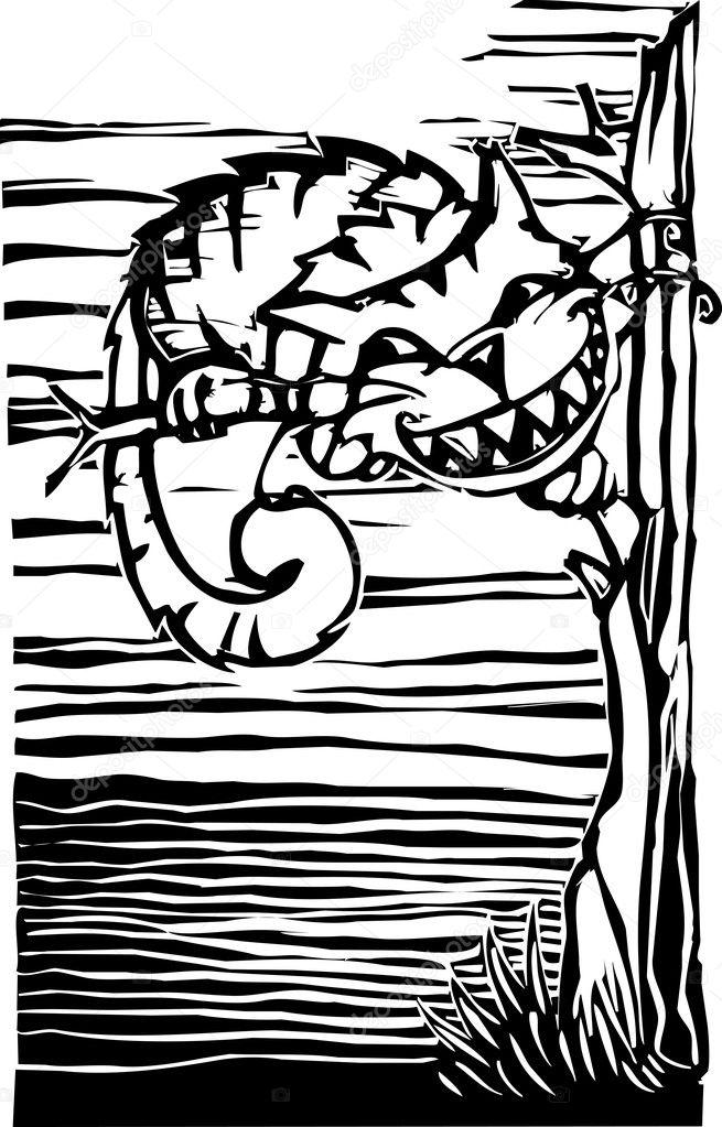 gato de Cheshire — Vector de stock © xochicalco #5568448