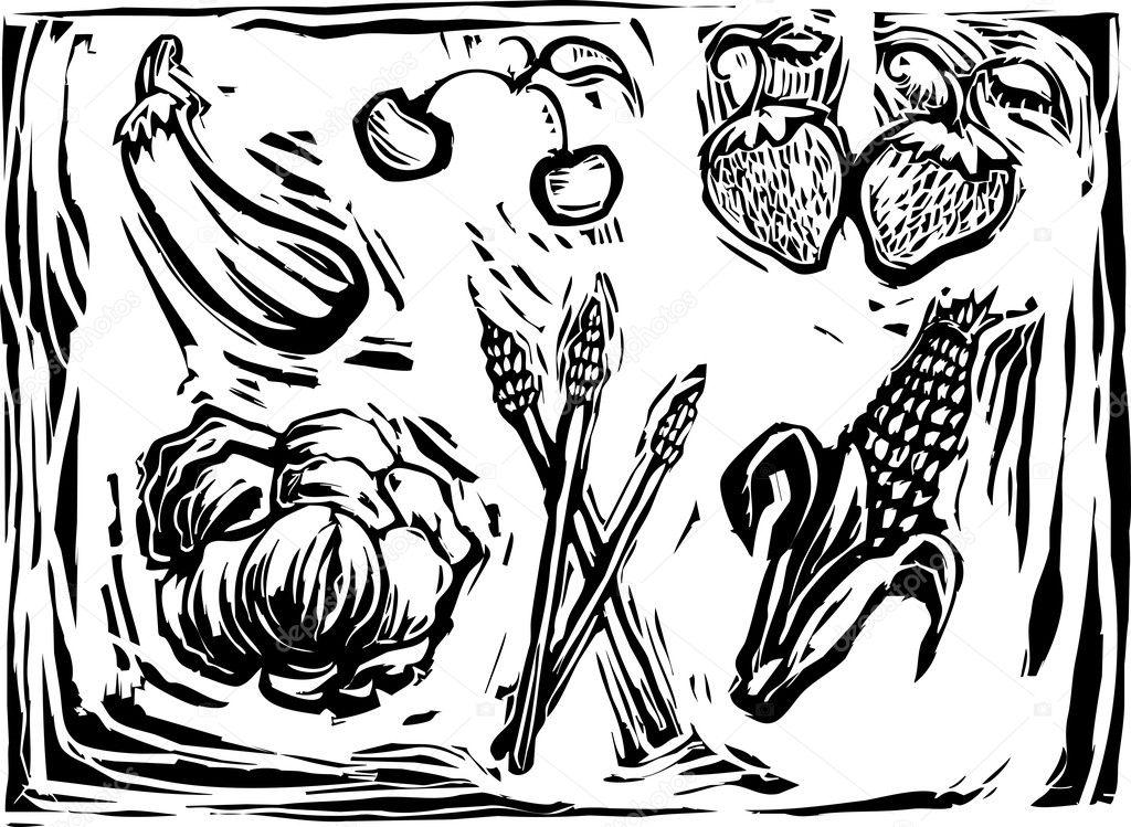 Mix of garden produce