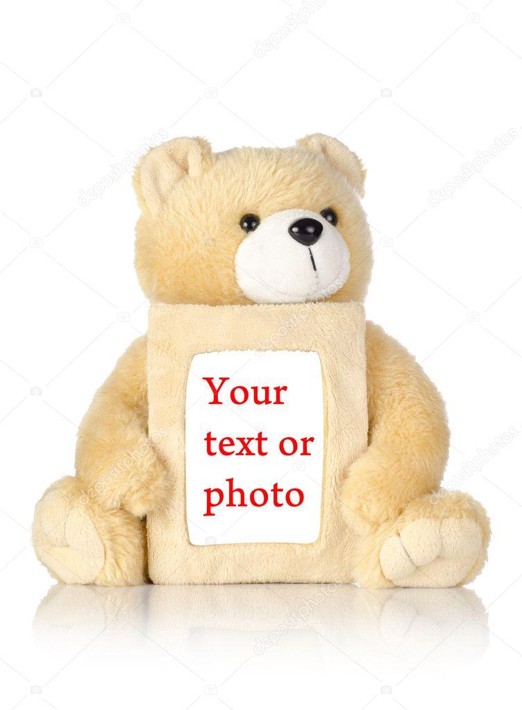 Teddy bear with photo frame — Stock Photo © Givaga #6240497