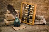 Zátiší v skladu s abacus
