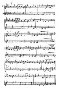Handmade musical notes.