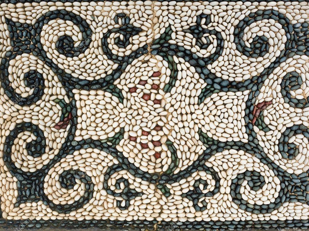 kiesel mosaik symbol muster stockfoto pilens 6108638. Black Bedroom Furniture Sets. Home Design Ideas