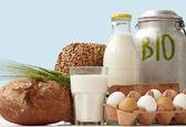Bio Lebensmittel Heftklammern Auslage