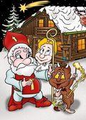 kreslené vánoční