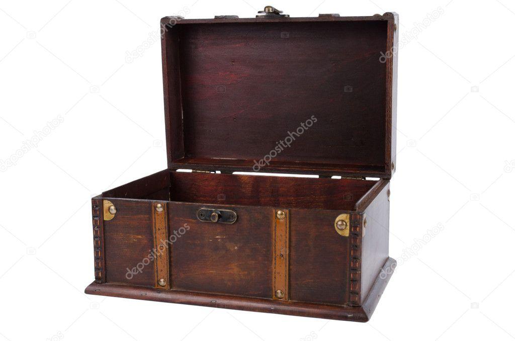 Abre ba l de madera antiguo fotos de stock homydesign - Baul de madera antiguo ...